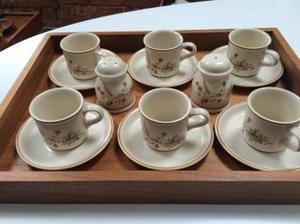 M&S Harvest Espresso Cups and Saucers X 6