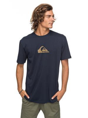 Mens Quiksilver Comp Logo T-Shirt - Navy
