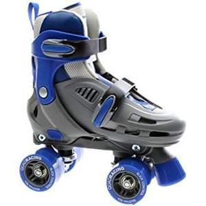 SFR Storm Roller Skates Grey/Blue, to fit 12 Junior to Adult