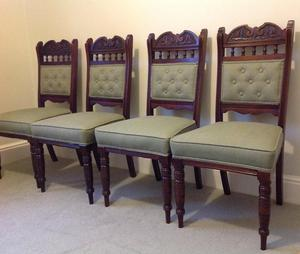 Set of four Edwardian/Victorian dining chairs