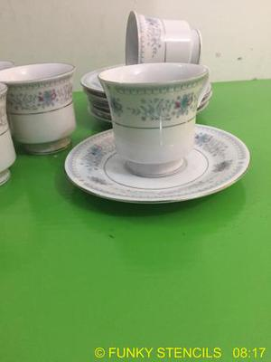 Six piece China vintage tea set