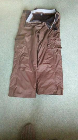 Ski Trousers Trespass Brown XXL Fleece Lined Ideal for school ski trip No belt.