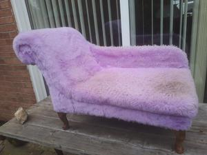 Small chaise lounge fluffy purple kids dohs cats