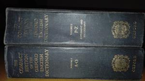 The Compact Edition of the Oxford English Dictionary.