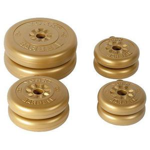 York Fitness 20kg Gold Vinyl Weight Set