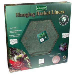 "14"" Jute Hanging Basket Liners High Quality free P&P UK"