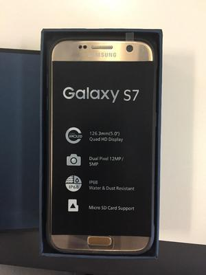 BRAND NEW Boxed Samsung S7 Gold 32GB with free case £299 onro