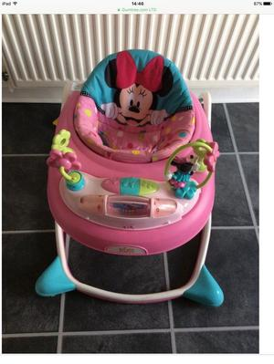 Disney Minnie Mouse pink baby walker