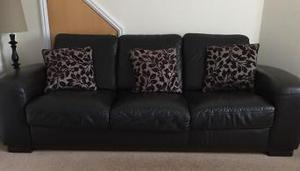 Leather sofas 2 seater and 3 seater
