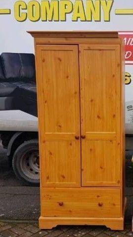 Pine double door wardrobe