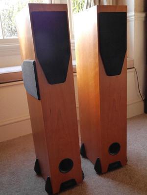 Rega RS3 hi fi speakers in cherrywood. Excellent condition