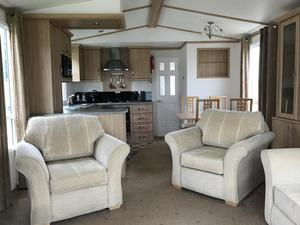 Sofa Bed Settee & 2 Matching Armchairs