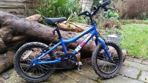 Boys Ridgeback MX16 blue bike