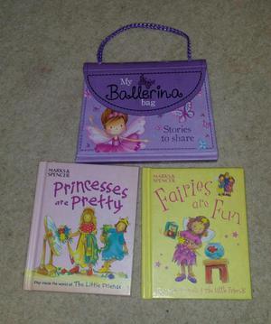 GIRLS FAIRY PRINCESS BALLERINA PORTABLE STORY BOOK