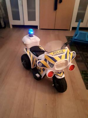 Kids pedal police bike