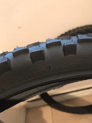 Pair of new mountain bike tyres 24x1.90