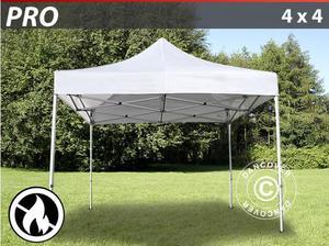 Pop up gazebo FleXtents PRO 4x4 m White, Flame retardant in