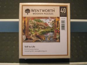 """WENTWORTH Wooden Jigsaw Puzzle """"Still To Life"""" 40 Pieces"""