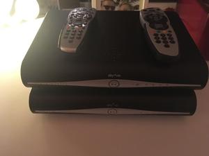 2 sky HD boxes and remotes