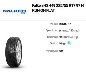 "4 x BMW 5 SERIES F10/F"" STYLE 236 ALLOY WHEELS & FALKEN WINTER TYRES"