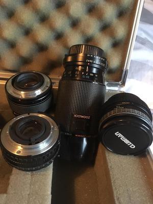 Camera box and lenses