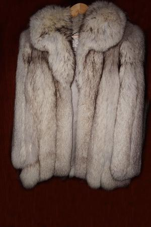 Jaffa, Silver Fox Fur Coat, Medium size