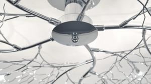 Chrome Effect 3 Lamp Ceiling Light Posot Class