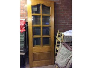 Two solid oak internal doors in St. Helens