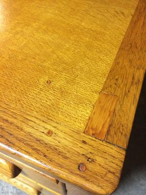 Angus wooden office desk