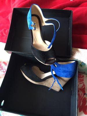 Ladies/girls as new clarks shoes wedges boxed
