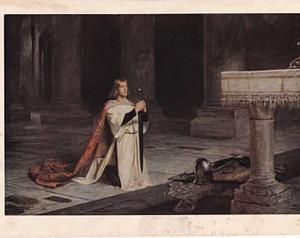 "Vintage Print - ""The Vigil"" by John Pettie -  Home Decor"