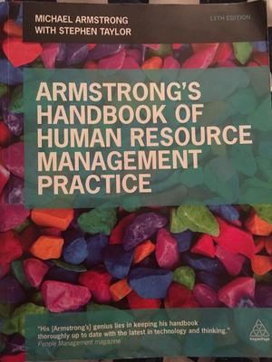 Armstrong's handbook of human resource management practice 11th edition (used, good)