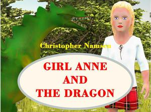 Children's book Girl Anne and the Dragon in City of London