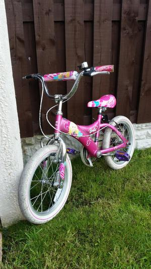 """Girls 16"""" barbie bike like new can deliver"""