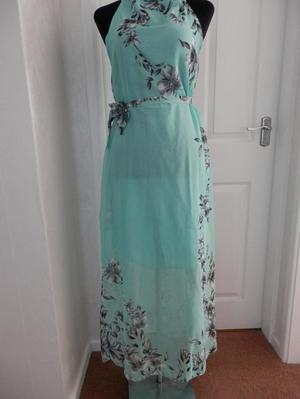 Gorgeous Sheer maxi dress-Size 12-Mint OR Yellow