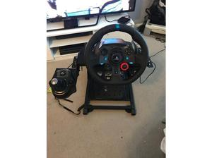 Logitech steering wheel pedals with gear shifter, project