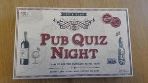 M&S The Great British Pub Quiz Night Trivia Game *brand new*