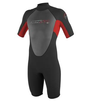 Mens O'Neill Mens Reactor 2mm Spring Wetsuit - Black & Red
