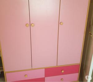 Pink and pine bedroom set