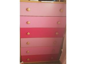 Pink and pine bedroom set in Castleford