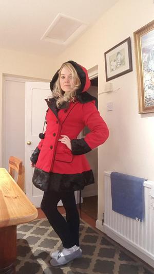 Red Hell Bunny Sarah Jane Coat brand new never worn