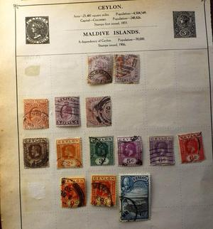 Vintage stamps from Ceylon very good used