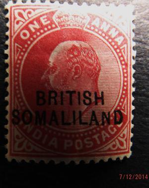 stamp Somaliland Edward VII mint SG2