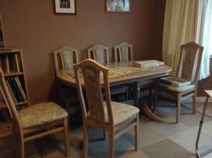 5 complete Limed Oak Lounge/Dining Room pieces of furniture