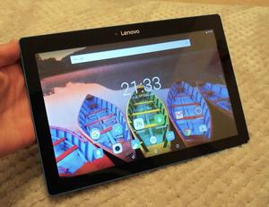 "Lenovo Tab""-black w/ blue rim. HD, 16GB, 2GB RAM,"