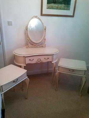 Louis style bedside cabinets