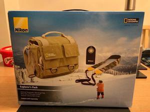 National Geographic Messenger Camera Bag, Nikon ML-L3 Remote & Explorer Neck Strap
