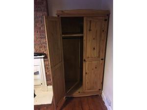 Pine wardrobe in Burry Port