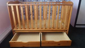 Saplings Glideaway Cot Bed in Country Pine