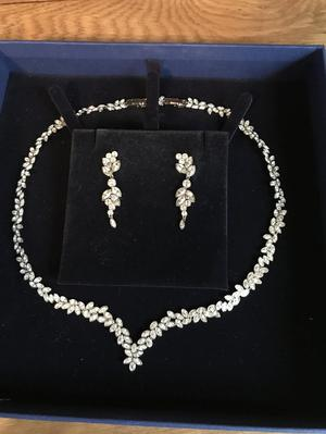 Swarovski Diapason Necklace & Earrings Set